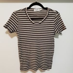 3/$25 Vintage 90s Mexx Ribbed Striped T-Shirt